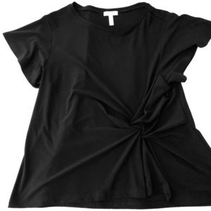 Black Blouse with front knot